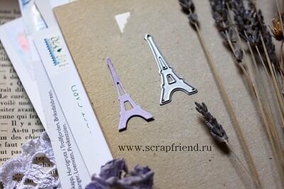 Die Eiffel tower, 2x4 cm, Scrapfriend