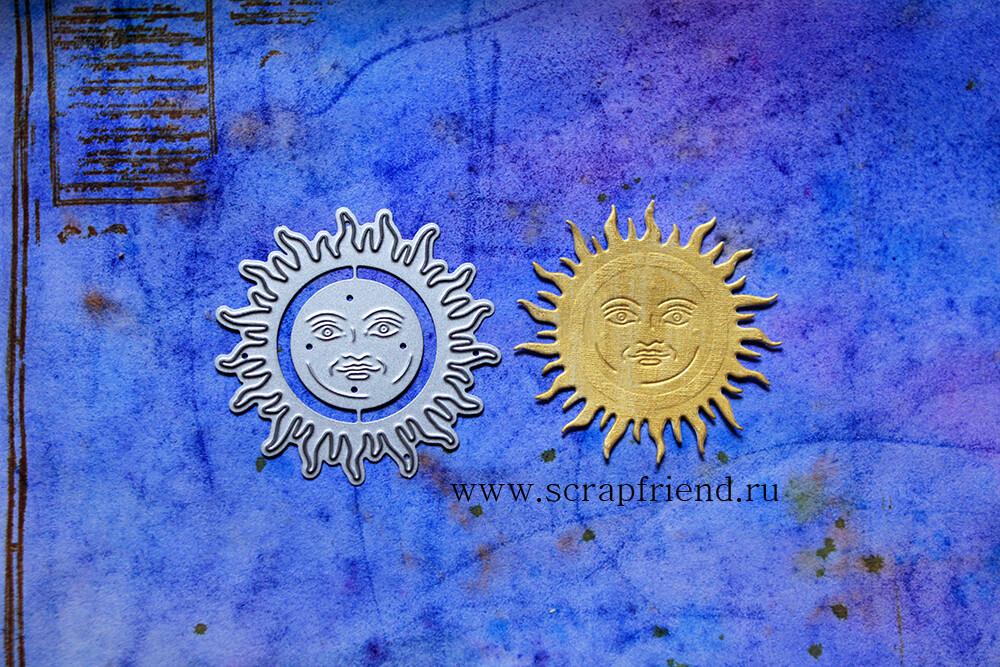 Набор ножей для вырубки Алхимия - Солнце, 2 штуки, 2,5-5,5см, Scrapfriend