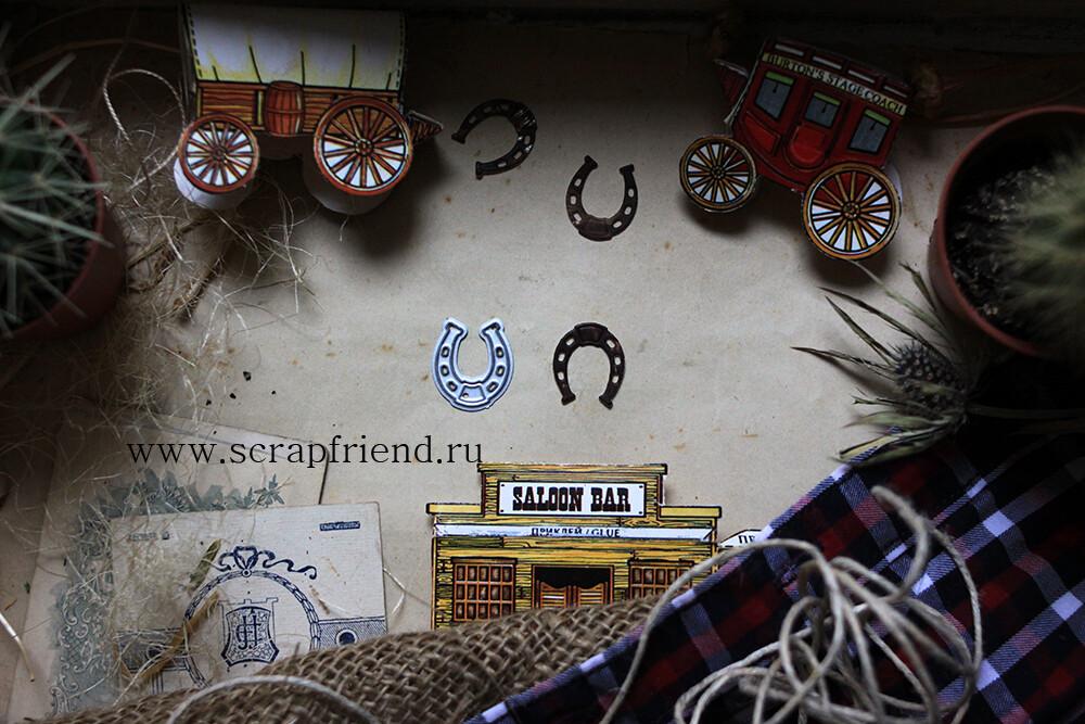 Die Cowboy - Horseshoe, 1,5x2 cm, Scrapfriend