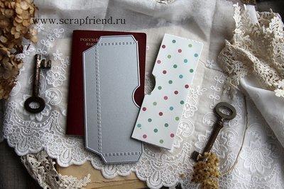 Нож для вырубки Кармашек для паспорта или фотографий Полукруг, 5х13см, Scrapfriend