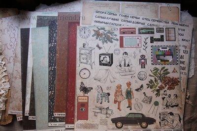 Paperpad Retro, 30x30 cm, Scrapfriend