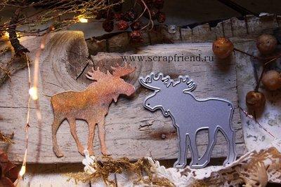 Die Moose, 5,5x6 cm, Scrapfriend