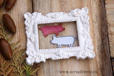 Die Pig, 3,5x2 cm, Scrapfriend