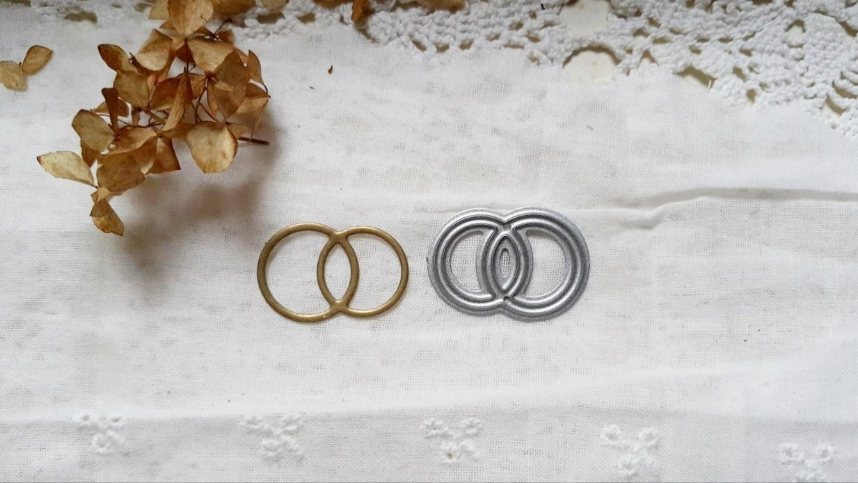 Die Wedding rings, 1,5x2,5 cm, Scrapfriend