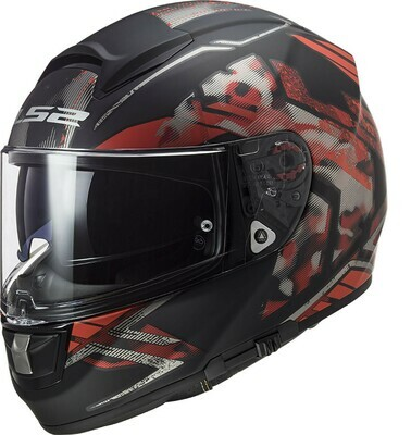 CASCO LS2 FF397 VECTOR EVO col. STENCIL RED