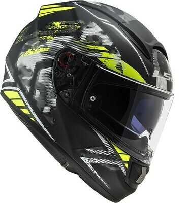 CASCO LS2 FF397 VECTOR EVO col. STENCIL YELLOW