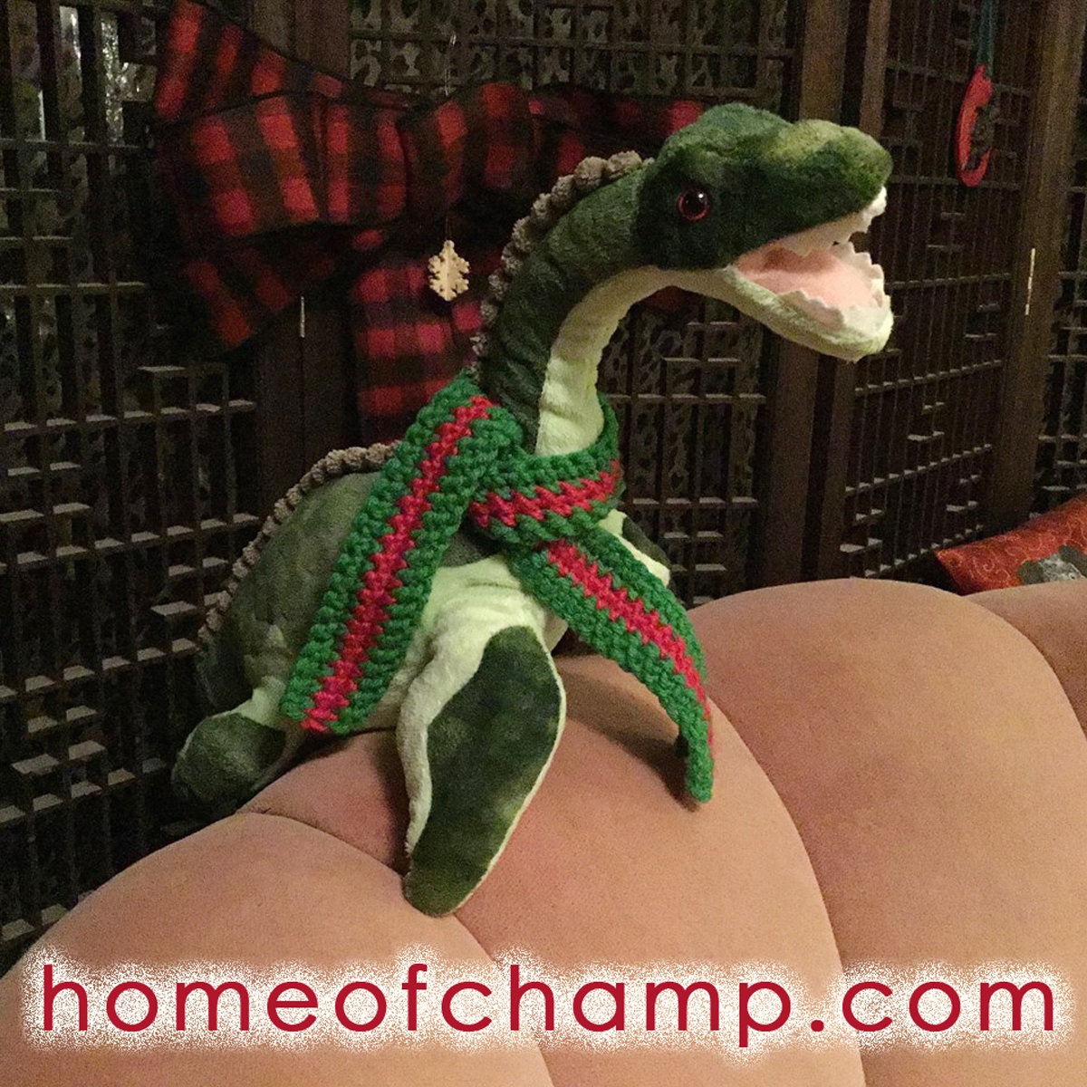 Plush Champ with Scarf
