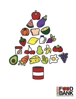 Holiday Greeting Card - Food Bank Tree