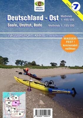 Jübermann Wassersport- Wanderkarte WW7 Deutschland- Ost