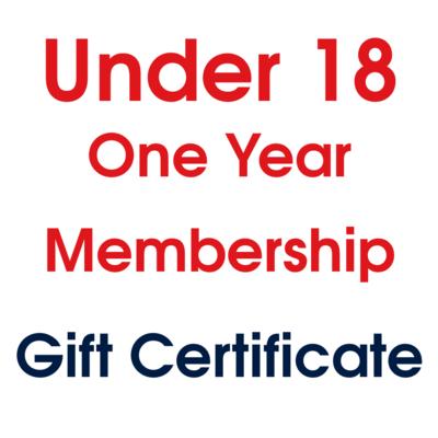 Under 18 Membership Gift Certificate