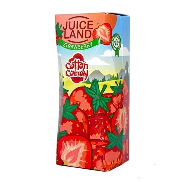 JUICELAND BY COTTON CANDY: STRAWBERRY 100ML 0MG