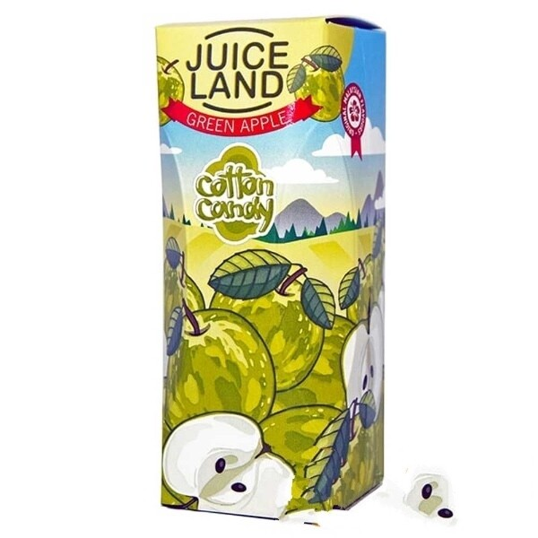 JUICELAND BY COTTON CANDY: GREEN APPLE 100ML 0MG