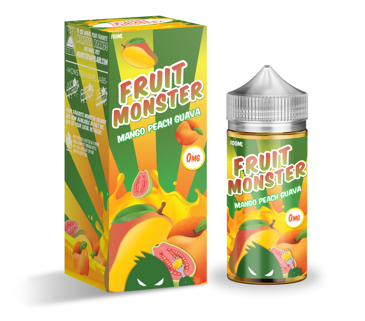 FRUIT MONSTER: MANGO PEACH GUAVA 100ML 3MG