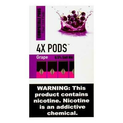 4X PODS FOR JUUL: GRAPE