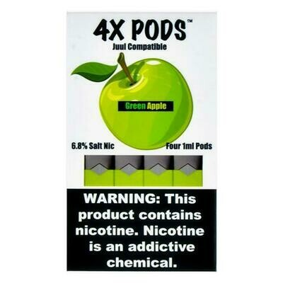 4X PODS FOR JUUL: GREEN APPLE
