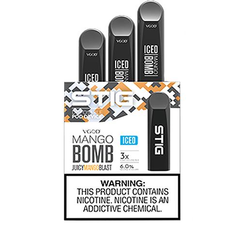 STIG POD BY VGOD: ICED MANGO BOMB 60MG