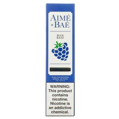 AIME X BAE DISPOSABLE POD: BLUE RAZZ 50MG