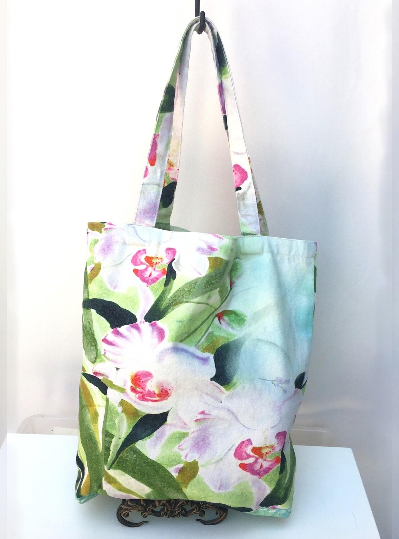 JJ Tote Bag Aqua Orchid