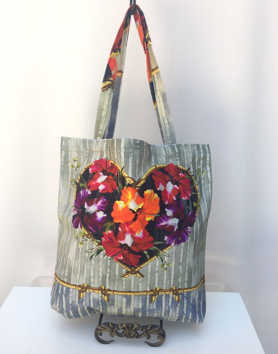 Tote Bag Hibiscus Heart