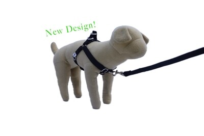 Eco-Friendly Bamboo 'Dual Clip' Step-In Dog Harness - Midnight