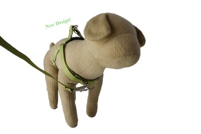 Eco-Friendly Bamboo 'Dual Clip' Step-In Dog Harness - Bamboo Zen