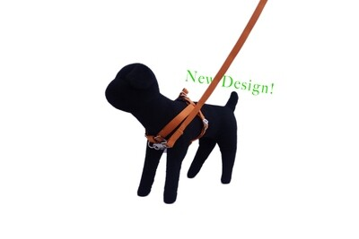 Eco-Friendly Bamboo 'Dual Clip' Step-In Dog Harness - Falling Leaves