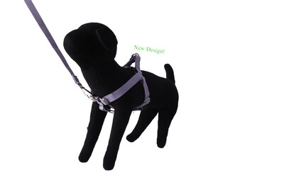 Eco-Friendly Bamboo 'Dual Clip' Step-In Dog Harness - Spring Lilac