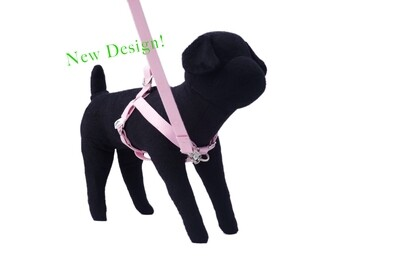 Eco-Friendly Bamboo 'Dual Clip' Step-In Dog Harness - Seashell