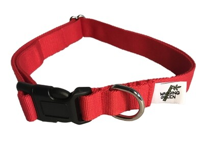 Eco Friendly Bamboo Double Layer Dog Collar - Berry