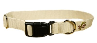 Eco Friendly Bamboo Single Layer Dog Collar - Natural (undyed)