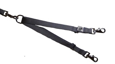 Eco Friendly Bamboo Tandem Leash Accessory - Pebble