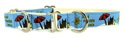 Eco Friendly Bamboo Saving The Earth Series Martingale Collar - Solar Powered Pooch (1