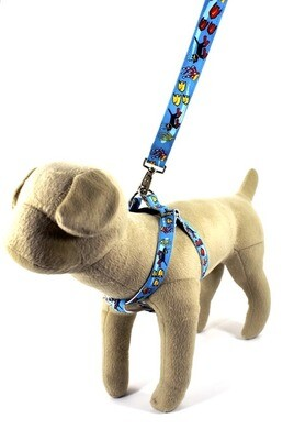 Eco Friendly Bamboo Saving The Earth Series Dog Harness - Making Waves