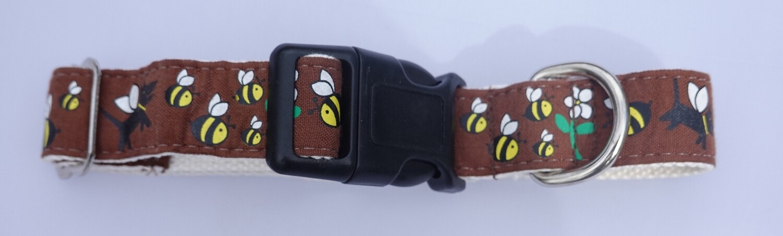 Eco Friendly Bamboo Saving The Earth Series Dog Collars - Honey Bee (1