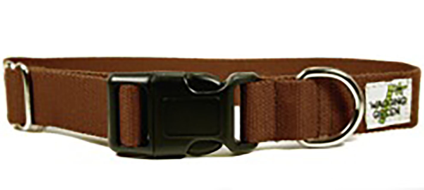 Eco Friendly Bamboo Single Layer Dog Collar - Tree Bark (1