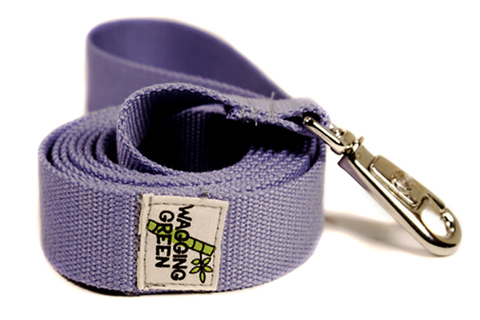 Eco Friendly Bamboo Single Layer Dog Leash - Spring Lilac (Small Button Hook - Clearance)