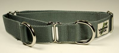 Eco Friendly Bamboo Double Layer Martingale Dog Collar - Pebble