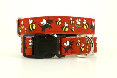 Eco Friendly Bamboo Saving The Earth Series Dog Collars - Honey Bee