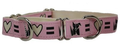 Eco Friendly Bamboo Saving The Earth Series Martingale Collar - Love Dog