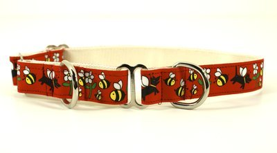 Eco Friendly Bamboo Saving The Earth Series Martingale Collar - Honey Bee