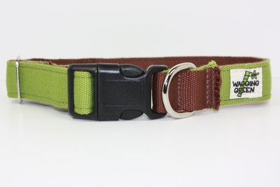 Eco Friendly Bamboo Eco Hip Series Dog Collar - Woodsy