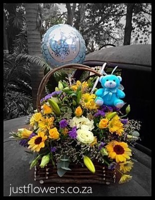 Baby Boy/Girl Basket Arrangement