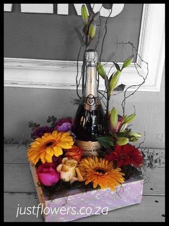 Flowers & Sparkling Wine