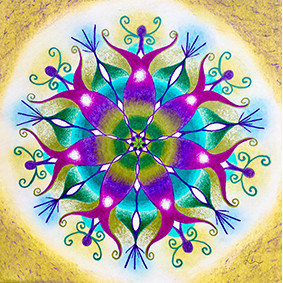 Lysel Mandala 'Passie' (wenskaart of artprint)