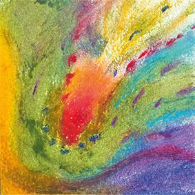 """Lysel Art """"Intuïtieve Voelsprieten"""" (verkocht, enkel als wenskaart)"""