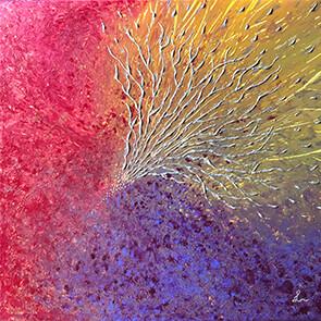 Lysel Art 'De Kracht van het Verbinden' (verkocht, enkel als wenskaart)
