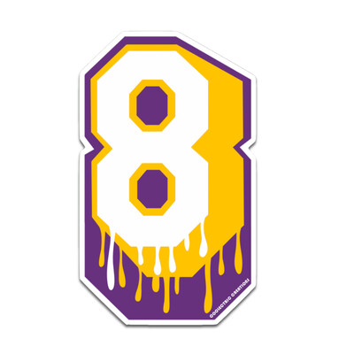 Dripping 8 Sticker