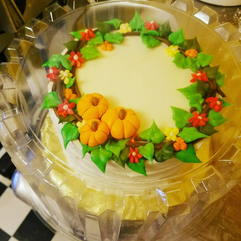 Thanksgiving Wreath Cake