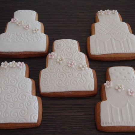 Wedding Theme Decorated Sugar Cookies