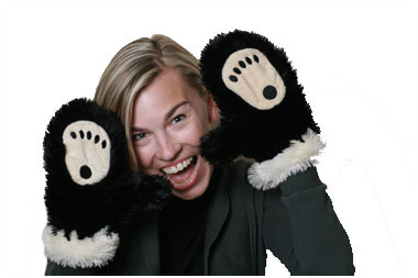 Bear Mittens for Adult, Brown